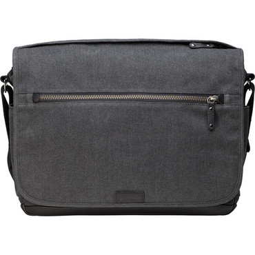 Tenba Cooper Luxury Canvas 15 Camera Bag with Leather Accents (Gray)