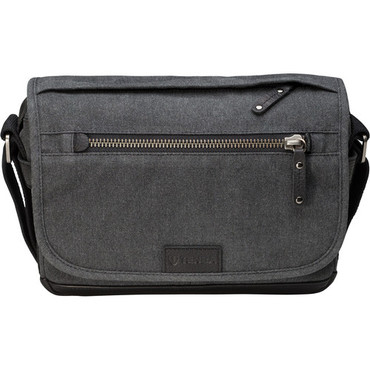 Tenba Cooper Luxury Canvas 8 Camera Bag with Leather Accents (Gray)