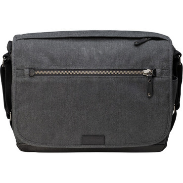 Tenba Cooper Luxury Canvas 13 DSLR Camera Bag with Leather Accents (Gray)