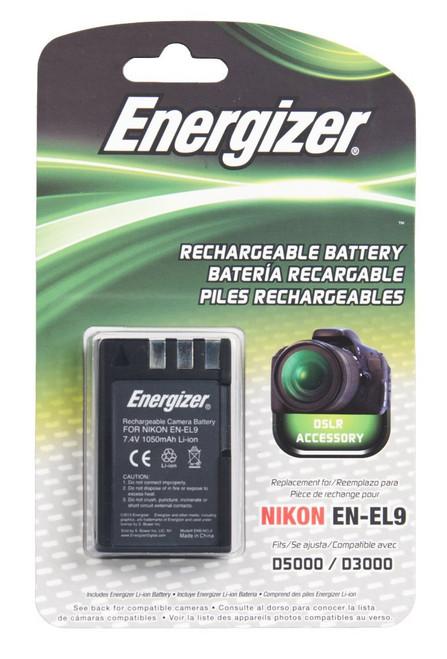 Bower ENB-NEL9 Energizer Digital Replacement Battery EN-EL9 for Nikon , D40, D40X, D60, D3000 and D5000 (Black)