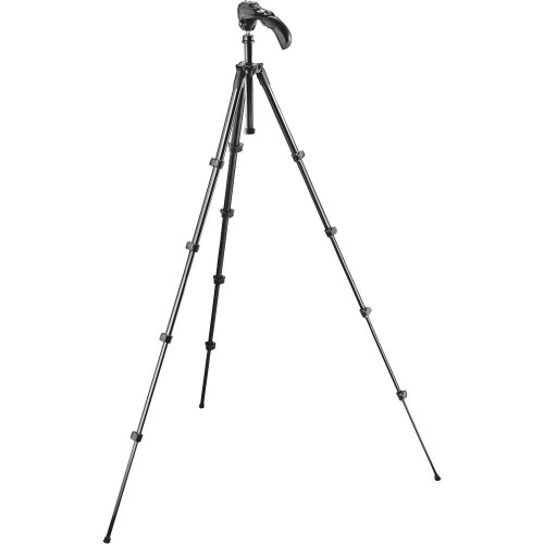 Manfrotto MKC3-H01 Compact 5-Photo/Video Tripod Kit W/ Quick Rel (GARY)