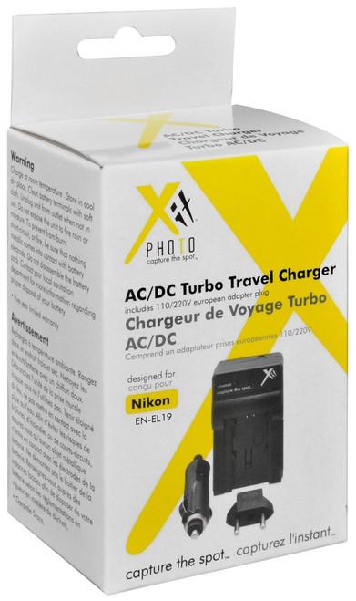 Xit XTCHENEL19 Battery Charger for Nikon EN-EL19 Battery (Black)