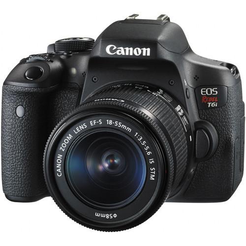 Canon EOS T6 DSLR w/ 18-55mm II Lens