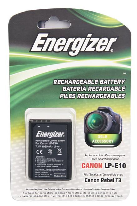 Bower ENB-CE10 Energizer Digital Replacement Battery 1100D LP-E10 for the Canon Rebel T3 (Black)