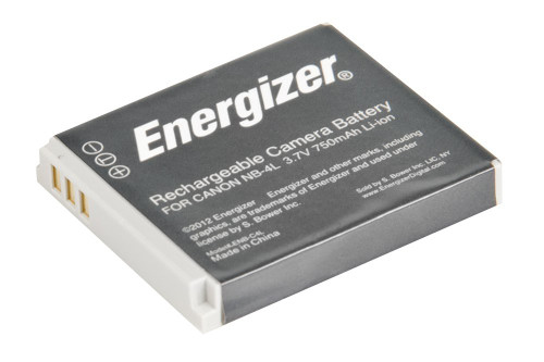 Bower ENB-C4L Energizer Digital Replacement Battery NB-4L for Canon IXUS 120 IS, 30, 50, 80 and PowerShot SD1000 and TX1 (Black)