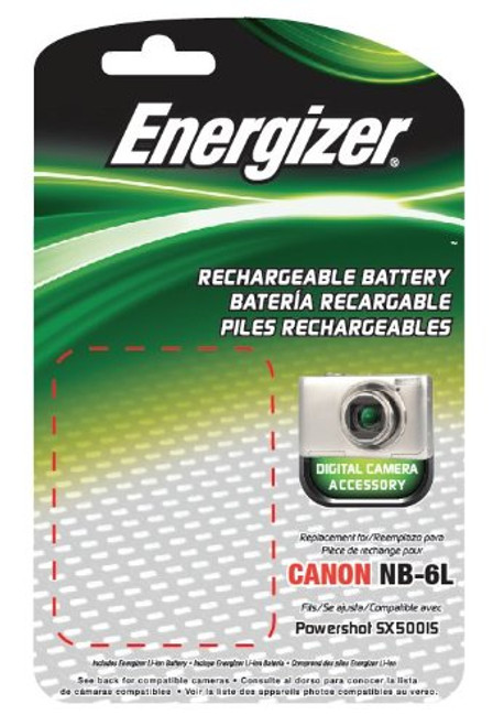 Bower ENB-C6L Energizer Digital Replacement Battery NB-6L for Canon PowerShot SD4000, D10 and IXUS 85 IS (Black)