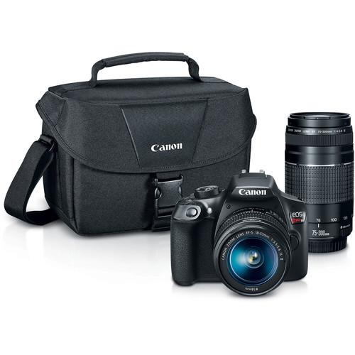 EOS Rebel T6 DSLR Camera w/ 18-55mm & 75-300mm Lenses Kit