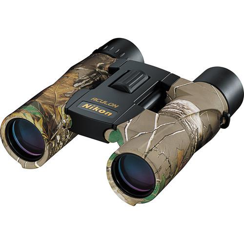 Nikon 10x25 Aculon A30 Binocular with Clamshell Packaging (Real Tree Camo)