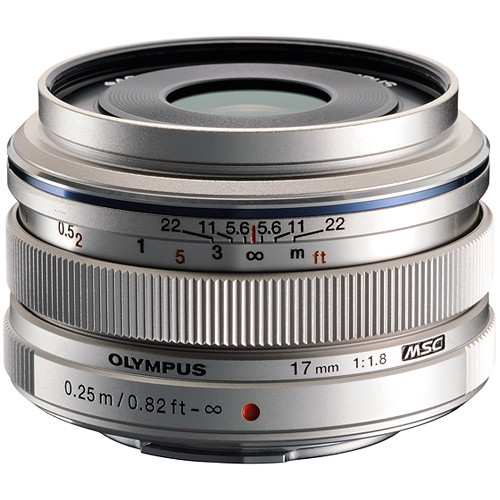 Olympus 17mm f1.8 M.Zuiko Wide-Angle Lens (Silver)