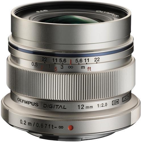Olympus 12mm f/2.0 Lens M.Zuiko Digital ED Lens (Silver)