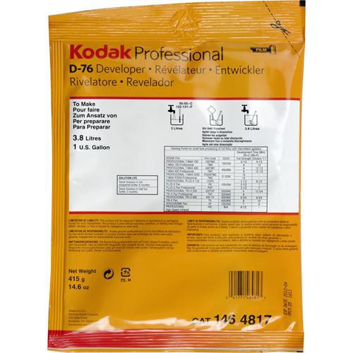 Kodak  D-76 Developer (Powder) for Black & White Film - Makes 1 Gallon