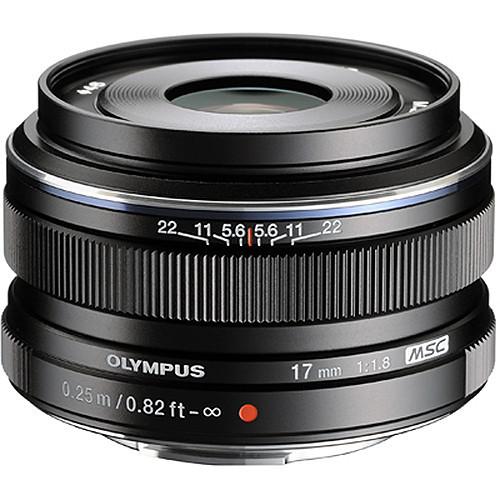 Olympus 17mm f1.8 M.Zuiko Wide-Angle Lens (Black)
