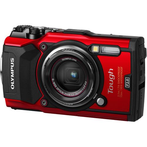 Olympus Tough TG-5 Digital Camera (Red)