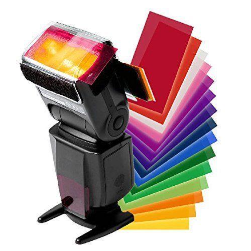 12 Pieces Color Card For Strobist Flash Gel Filter