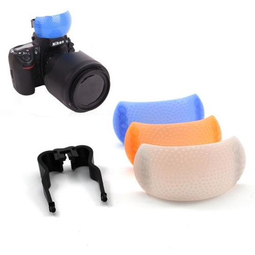 3 color Pop-Up Flash Diffuser Cover with bracke