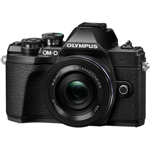 Olympus OM-D E-M10 Mark III w/ 14-42mm EZ Lens (Black)