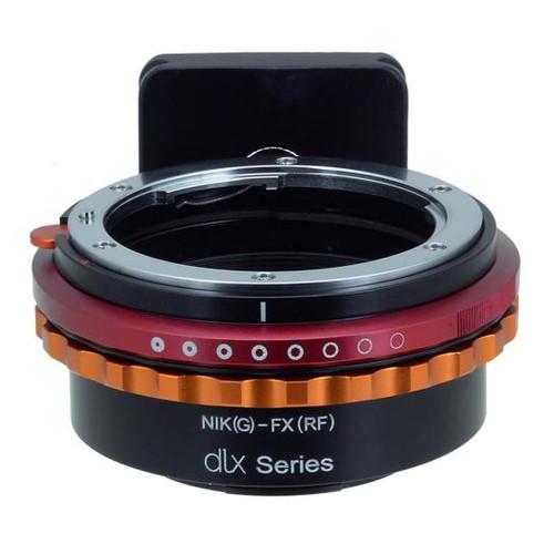 Fotodiox DLX Lens Mount Adapter - Nikon Nikkor F Mount G-Type D/SLR Lens to Fujifilm Fuji X-Series Mirrorless Camera Body, with Long-Throw De-Clicked Aperture Control