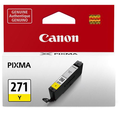 Canon  CLI-271 Yellow Ink Tank -For PIXMA MG5720, MG5721, MG5722, MG6820, MG6821, MG6822, MG7720, TS5020, TS6020, TS8020, and TS9020 Printers