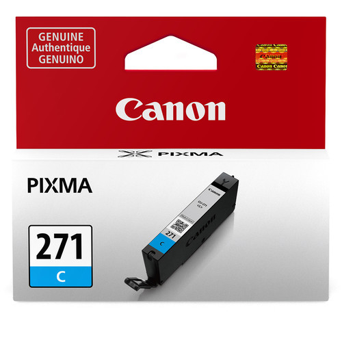 Canon  CLI-271 Cyan Ink Tank -For PIXMA MG5720, MG5721, MG5722, MG6820, MG6821, MG6822, MG7720, TS5020, TS6020, TS8020, and TS9020 Printers