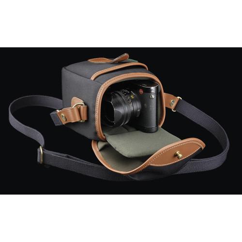 Billingham 72 Small Camera Bag (Black Canvas/Tan Leather)