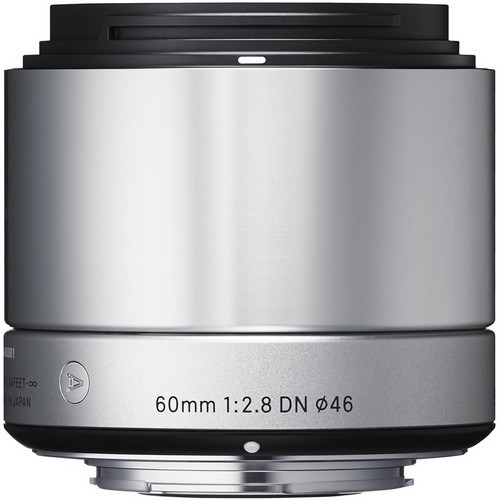 Sigma 60mm F/2.8 DN Lens For Micro Four Thirds (Silver)
