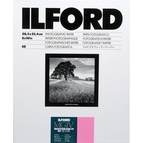 """Ilford Multigrade IV RC DeLuxe Paper (Glossy, 8 x 10"""", 50 Sheets)"""