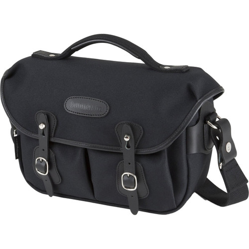 Billingham Hadley Small Pro Shoulder Bag (Black FibreNyte & Black Leather)