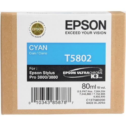 Epson UltraChrome K3 Ink For 3800 & 3880 - Cyan (80 ml)