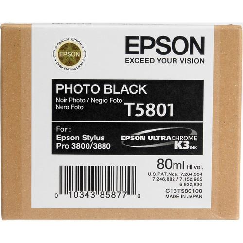 Epson UltraChrome K3 Ink For 3800 & 3880 - Photo Black (80 ml)