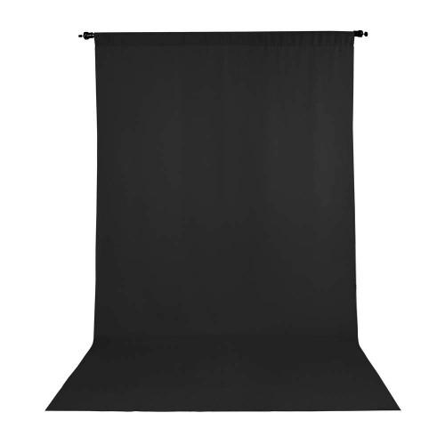 Promaster Wrinkle Resistant Backdrop 10'x20' - Black