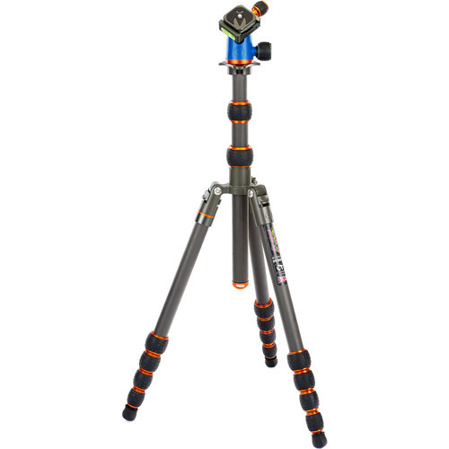 3 Legged Thing Punks Brian Travel Tripod with Airhed Neo Ball Head (Carbon Fiber, Bronze/Blue) (ACE59935)