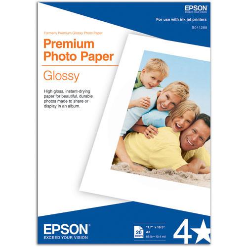 "Premium Glossy Photo Paper For 11.7X16.5"""