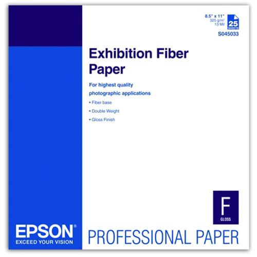 """Epson Exhibition Fiber Paper For Inkjet - 8.5X11"""""""