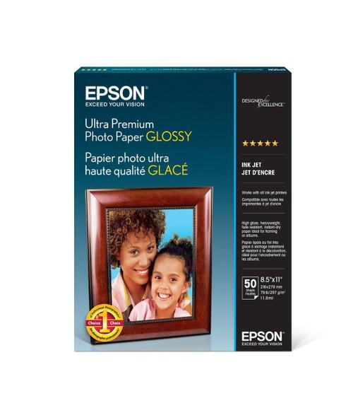 "Ultra Premium Glossy Photo Paper - 8.5X11"" 50 Sheets"