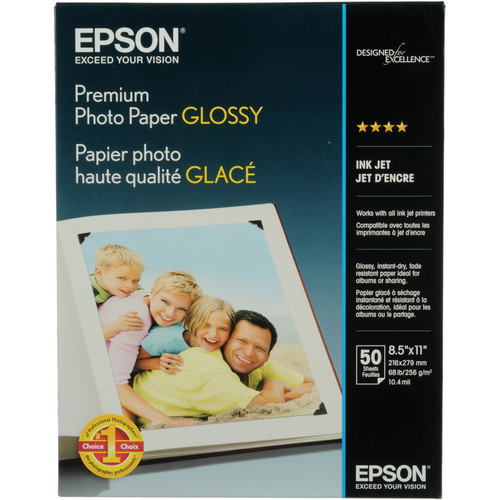 """Premium Glossy  For 8.5X11"""" Letter-50 Sheets"""