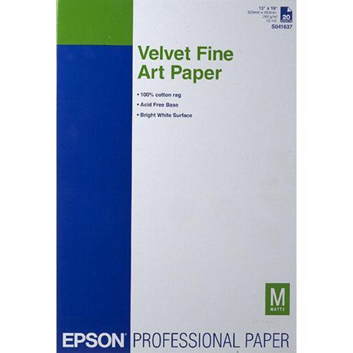 13X19 Velvet Fine Art Paper