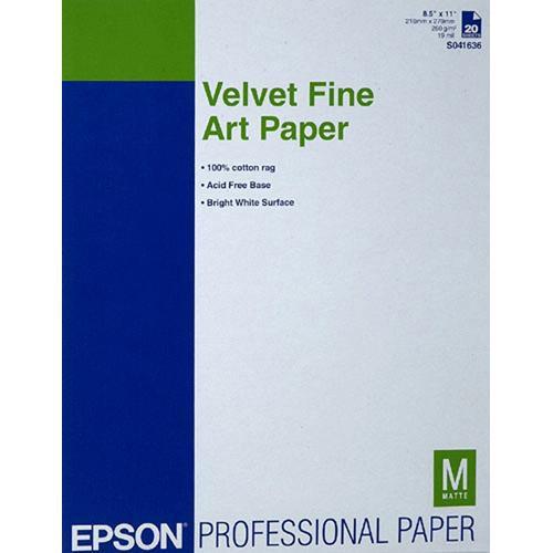 """Velvet Fine Art Paper For Inkjet 8.5X11"""" (Letter)"""