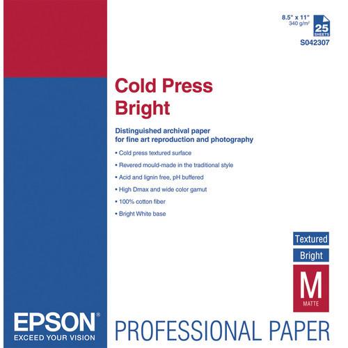 """Cold Press Bright Textured Matte  8.5 X 11""""/25"""