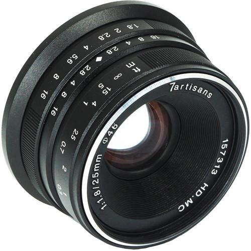 7Artisans Photoelectric 25mm f/1.8 Lens for Fujifilm X Mount - Black