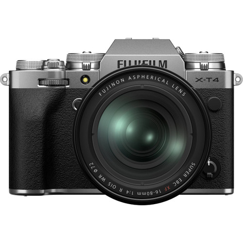 Fuji X-T4 Mirrorless Digital Camera with 16-80mm Kit, Silver (ACE62126)