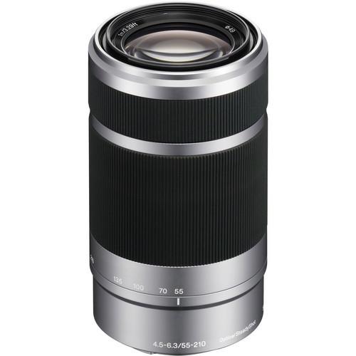 Sony E 55-210mm f/4.5-6.3 Lens (Silver)