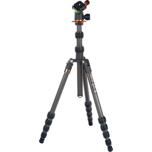 3 Legged Thing Punks Brian Travel Tripod with Airhed Neo Ball Head (Carbon Fiber, Black/Gray) (ACE62167)