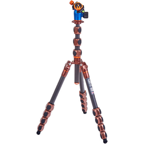 3 Legged Thing Albert 2.0 Tripod Kit with AirHed Pro Ball Head (Bronze and Blue) (ACE62168)