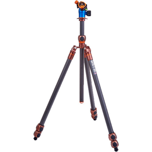3 Legged Thing Winston 2.0 Tripod Kit with AirHed Pro Ball Head (Bronze and Blue) (ACE62173)