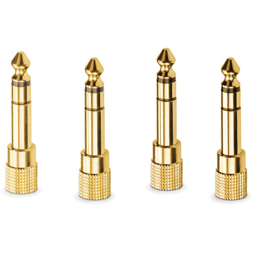 """RRode HJA-4 3.5mm TRS to 1/4"""" Headphone Adapters (4-Pack)"""