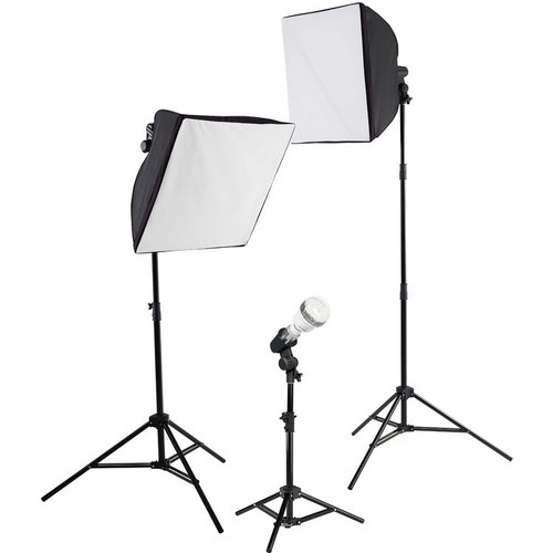 Westcott uLite LED 3-Light Collapsible Softbox Kit with 2.4 GHz Remote, 45W (ACE62939)