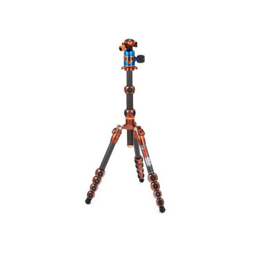 3 Legged Thing Legends Ray 5-Section Carbon Fiber Travel Tripod System with AirHed Vu Ball Head, Bronze & Blue