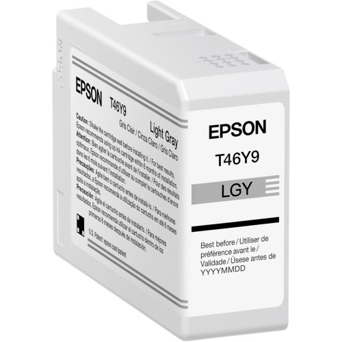 Epson T46Y Light Gray UltraChrome PRO10 Ink Cartridge (50mL) (ACE63125)