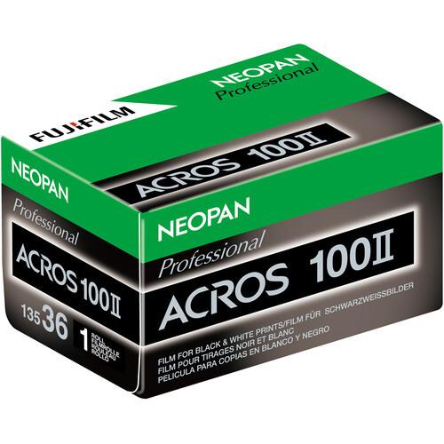 FUJIFILM Neopan 100 Acros II Black and White Negative Film (35mm Roll Film, 36 Exposures) (ACE63192)