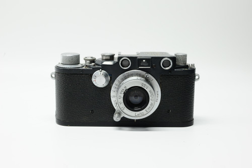 Pre-Owned - Leitz Leica IIIc K Grey W.H. w. 3.5/5cm W.H Elmar W/grey case